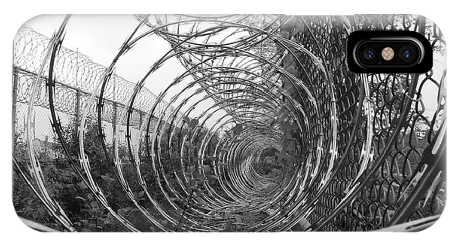 Barbed Wire IPhone X / XS Case featuring the photograph Barbed by Steven Woodard
