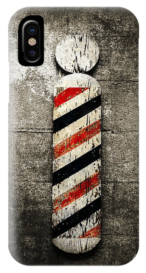 Barber Pole IPhone X Case featuring the photograph Barber Pole Selective Color by Andee Design