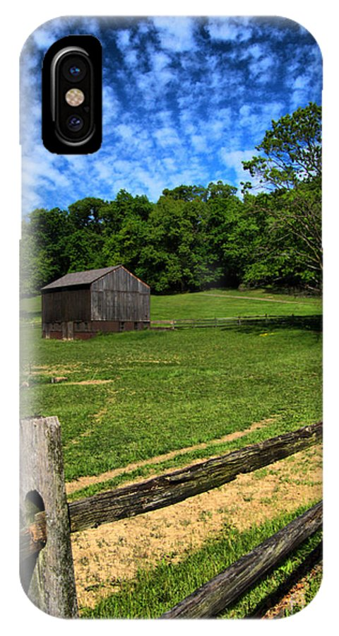 Allegheny County IPhone X Case featuring the photograph Barn At Hartwood Acres Under Beautiful Sky by Amy Cicconi