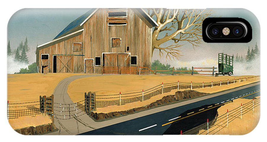 Barn IPhone X Case featuring the painting Barn by John Wyckoff
