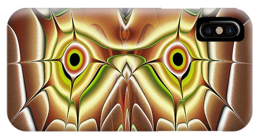 Computer IPhone X Case featuring the digital art Barn Owl by Anastasiya Malakhova