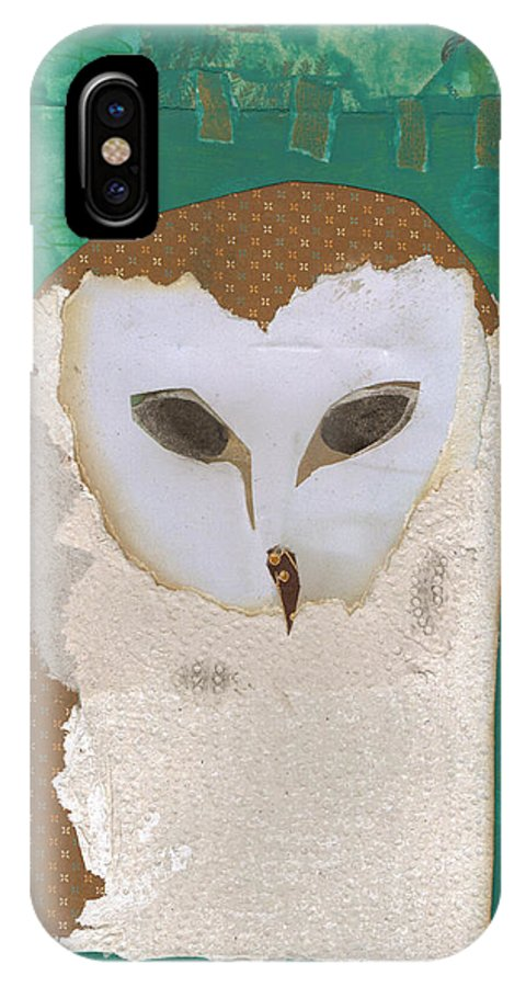 Barn IPhone X Case featuring the mixed media Barn Owl by Brian Fuchs