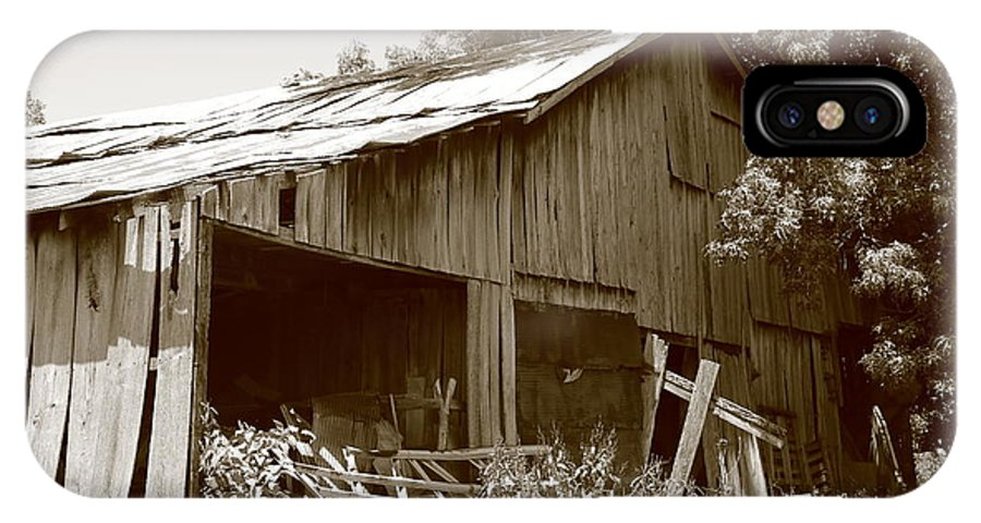 Barn IPhone X Case featuring the photograph Barn Sepia 2 by Dwight Cook