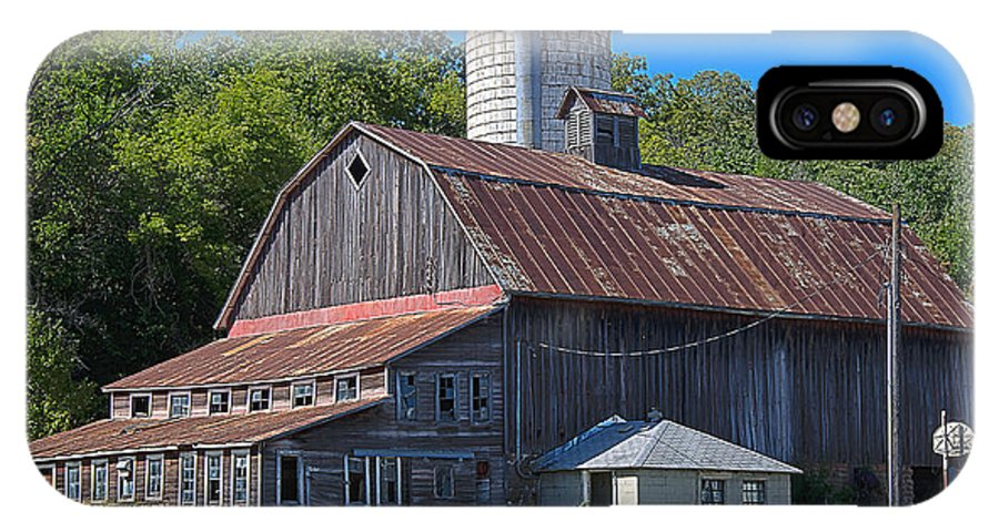 Barn IPhone X Case featuring the photograph Barn by Todd Noble