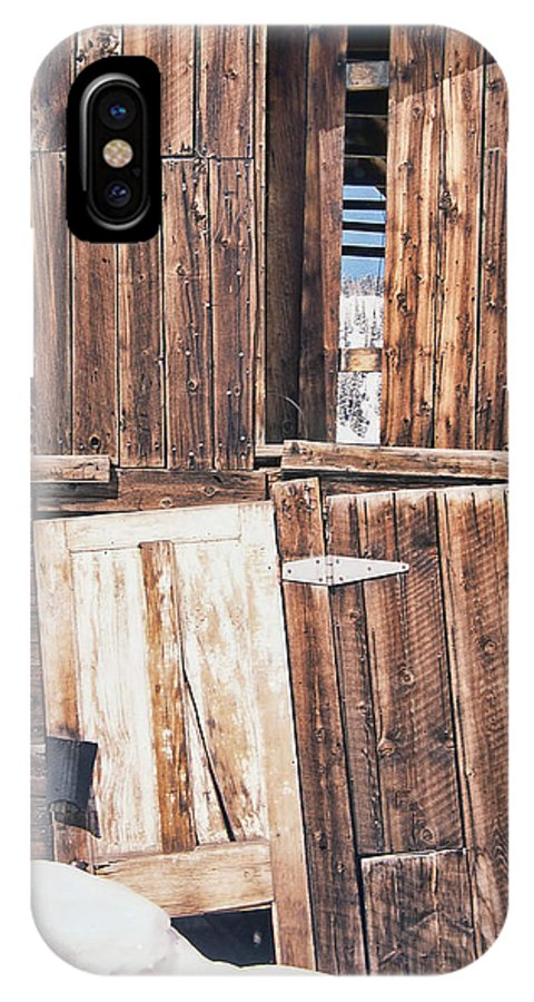 Old Barn IPhone X Case featuring the photograph Barn Wood by Cathy Anderson
