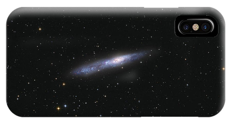 Horizontal IPhone X Case featuring the photograph Barred Spiral Galaxy Ngc 55 by Lorand Fenyes