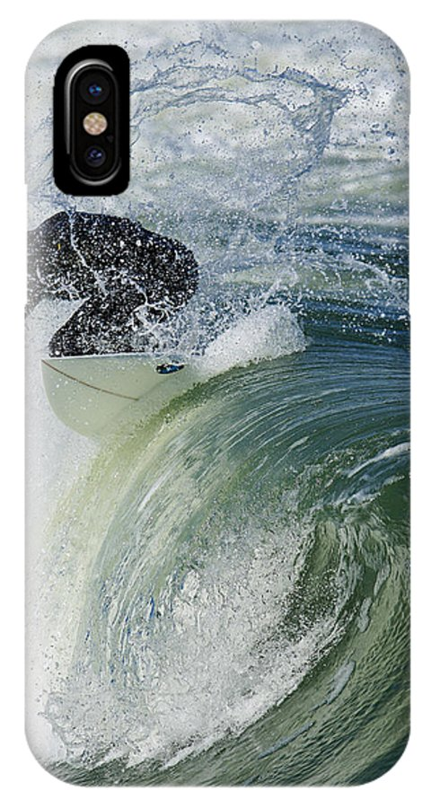Surfer IPhone X Case featuring the photograph Barrel by Josh Balduf