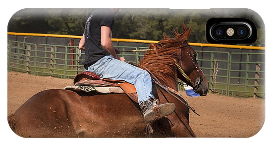 America IPhone X Case featuring the photograph Barrel Racing by Jack R Perry