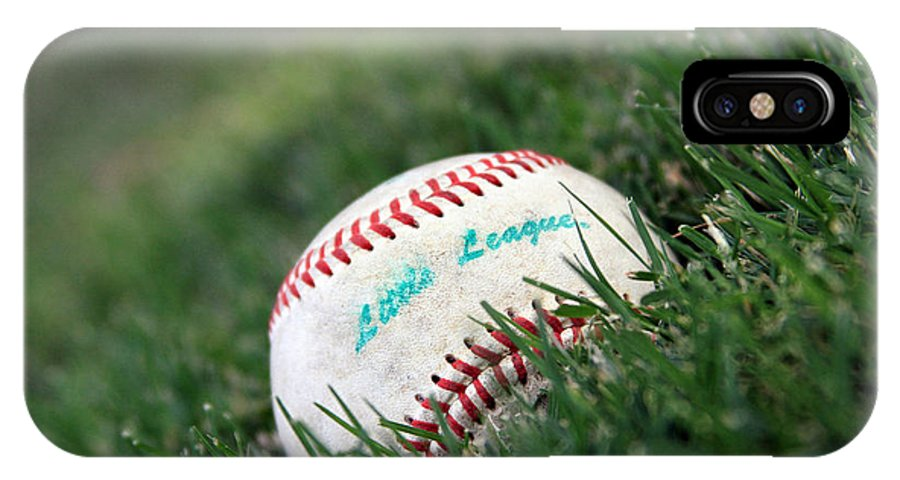 Baseball IPhone X Case featuring the photograph Baseball by Cameron Quade