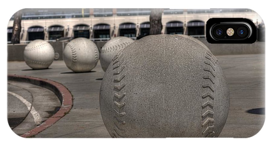 Baseball IPhone X Case featuring the photograph Baseballing At A T T Park by David Bearden
