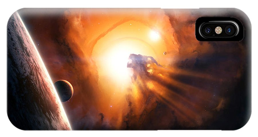 Space IPhone X Case featuring the digital art Basileus by Tobias Roetsch
