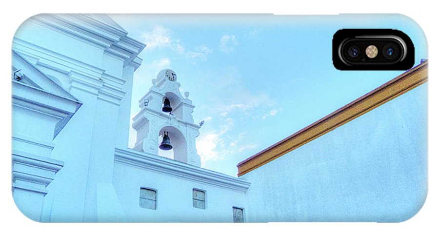 Basilica Nuestra Senora Del Pilar IPhone X Case featuring the photograph Basilica In Blue II by Deborah Smolinske