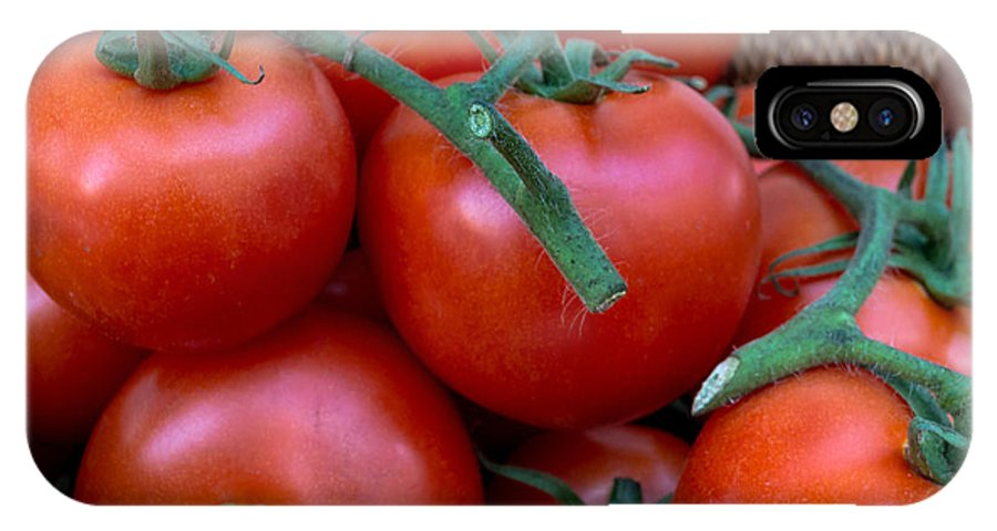 Freshness IPhone X Case featuring the photograph Basket Of Tomatoes by Chay Bewley