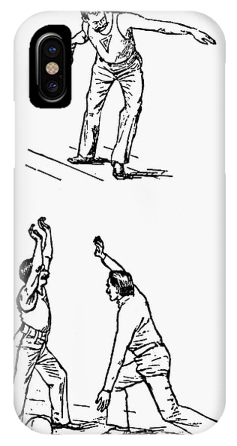 1893 IPhone X Case featuring the photograph Basketball, 1893 by Granger