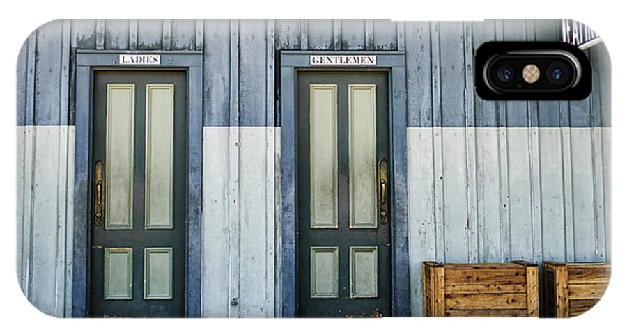 Bathroom IPhone X / XS Case featuring the photograph Bathroom Doors by Diego Re