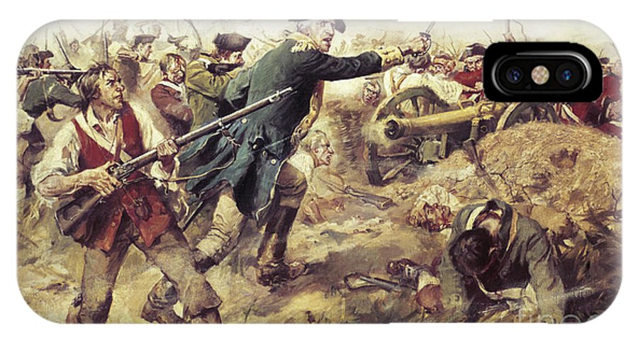 General John Stark IPhone X Case featuring the painting Battle Of Bennington by Frederick Coffay Yohn