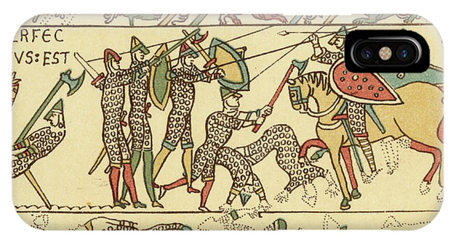 Norman IPhone X Case featuring the drawing Battle Of Hastings The Battle Rages by Mary Evans Picture Library