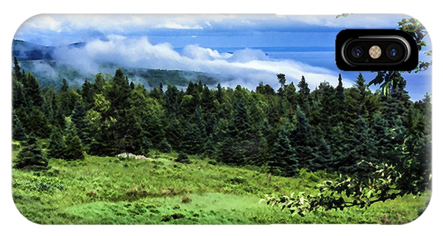 Fogbank IPhone X Case featuring the photograph Bay Of Fundy From Fundy National Park by Thomas R Fletcher