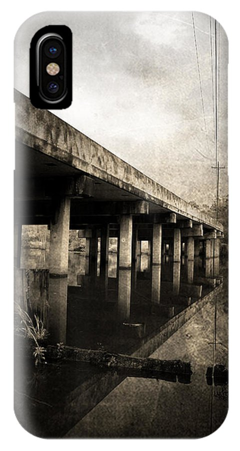 Water IPhone X Case featuring the photograph Bay View Bridge by Scott Pellegrin