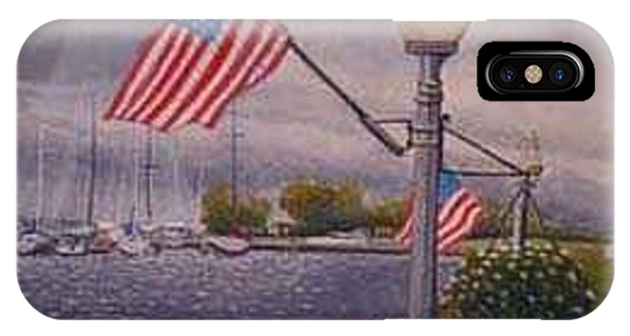 Rick Huotari IPhone X / XS Case featuring the painting Bayfield On The 4th by Rick Huotari
