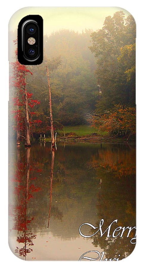 Christmas IPhone X Case featuring the photograph Bayou Christmas by Karen Beasley