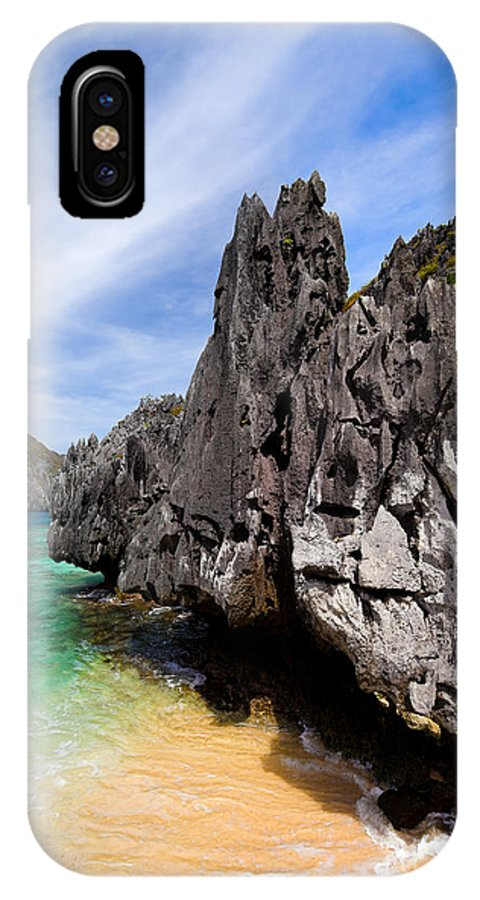 Beauty IPhone X Case featuring the photograph Beach And Rocks by Fototrav Print