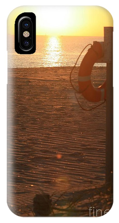 Beach IPhone Case featuring the photograph Beach At Sunset by Nadine Rippelmeyer