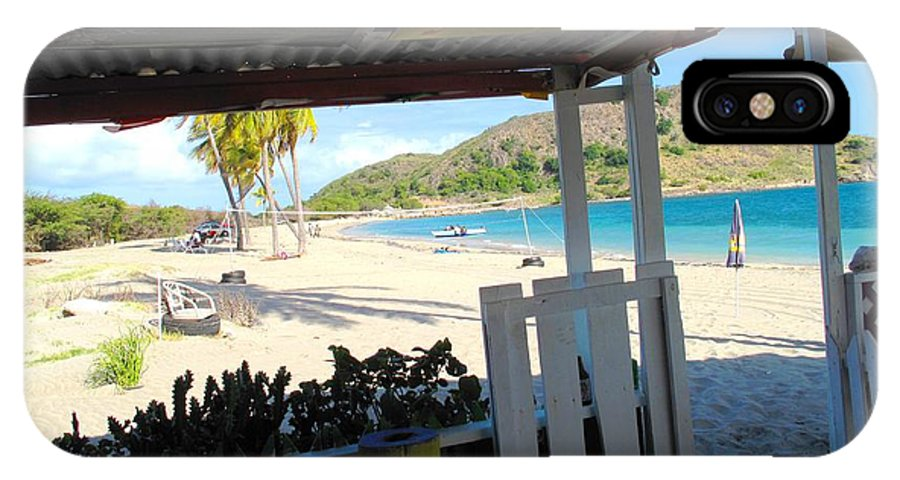 St Kitts IPhone X Case featuring the photograph Beach Bar In January by Ian MacDonald
