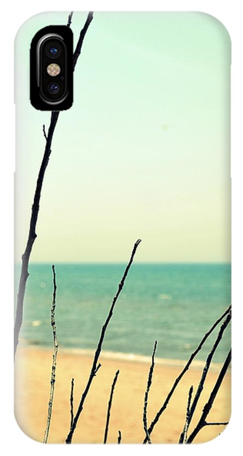 Beach IPhone X Case featuring the photograph Beach Branches by Michelle Calkins