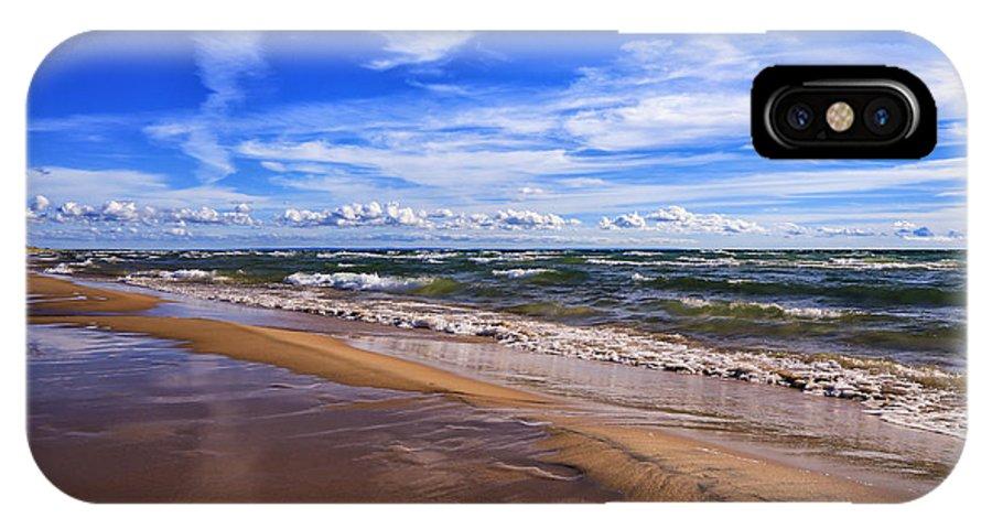 Beach Combing IPhone X Case featuring the photograph Beach Combing by Rachel Cohen