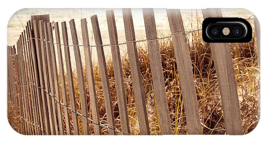 Beach Fence IPhone X Case featuring the photograph Beach Fencing by Erin Johnson