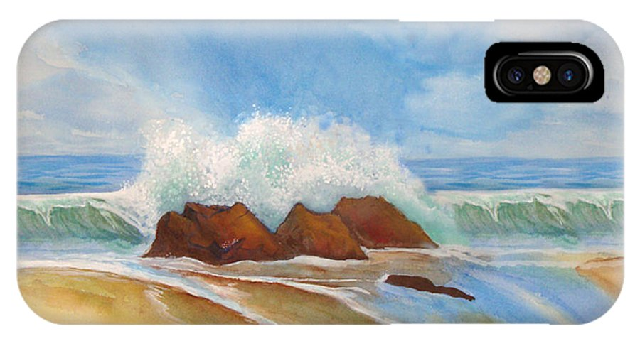 Rick Huotari IPhone X Case featuring the painting Beach Front by Rick Huotari