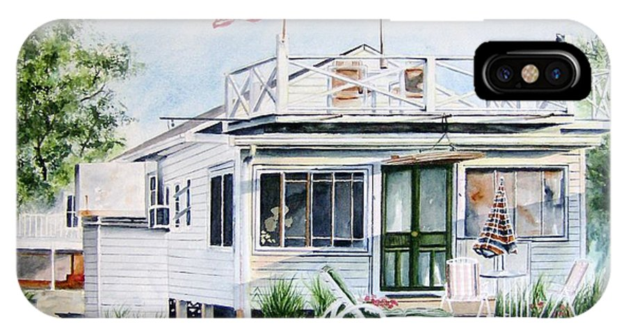 Beach IPhone X Case featuring the painting Beach House by Brian Degnon