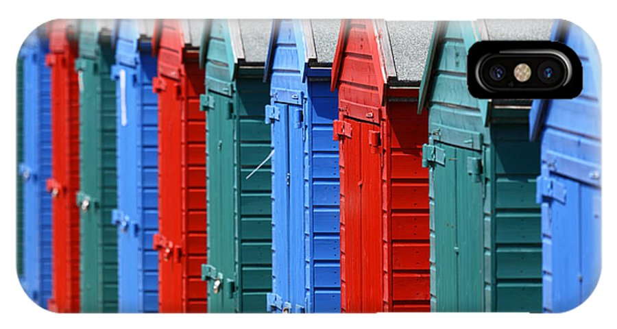 Beach Huts IPhone X Case featuring the photograph Beach Huts 2 by James Brunker