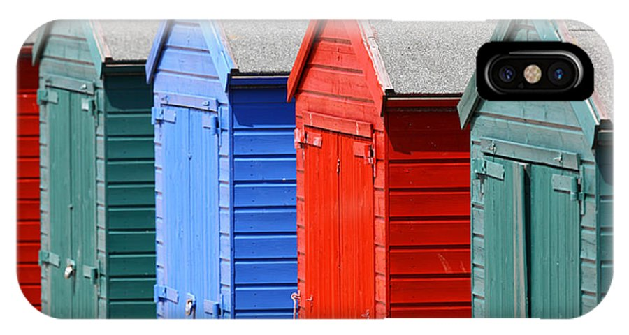 Beach Hut IPhone X Case featuring the photograph Beach Huts 3 by James Brunker