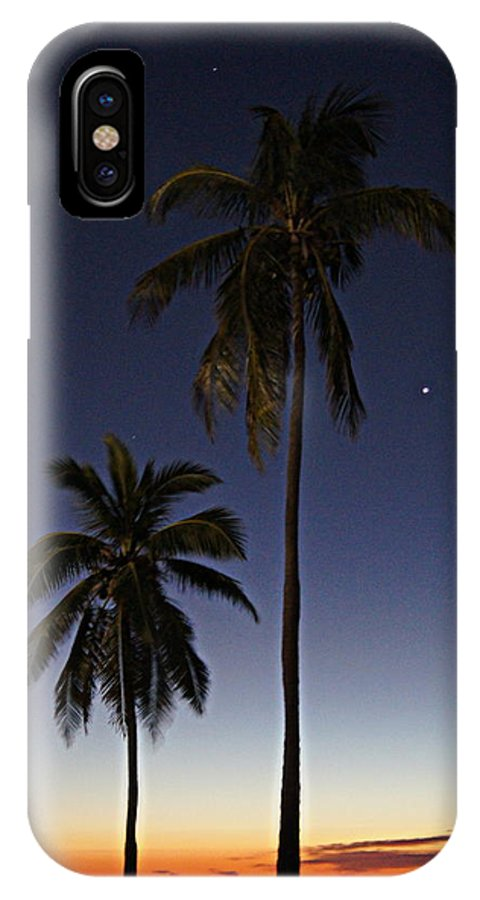 Palm Trees IPhone X Case featuring the photograph Beach Palms by Paul Wilford