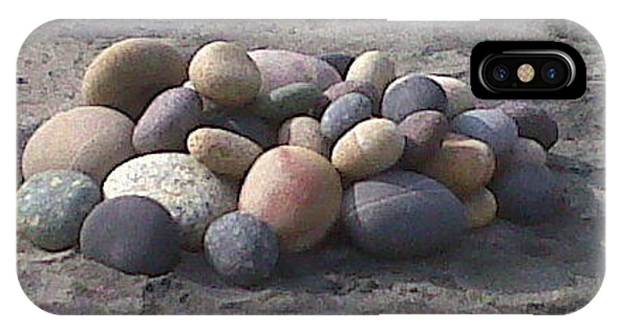 Pebble IPhone X Case featuring the photograph Beach Pebbles by Lew Davis