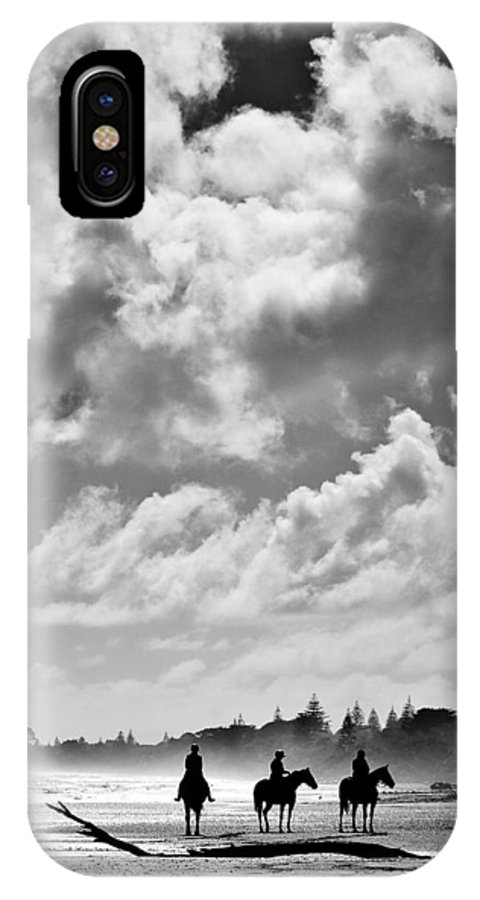 Ride IPhone X Case featuring the photograph Beach Riders by Dave Bowman