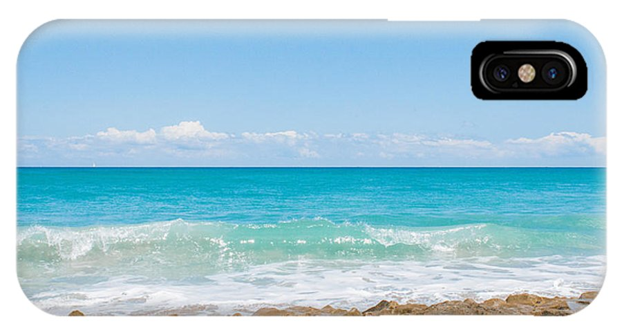 Beach IPhone X Case featuring the photograph Beach Rocks 0001 by Terrence Downing