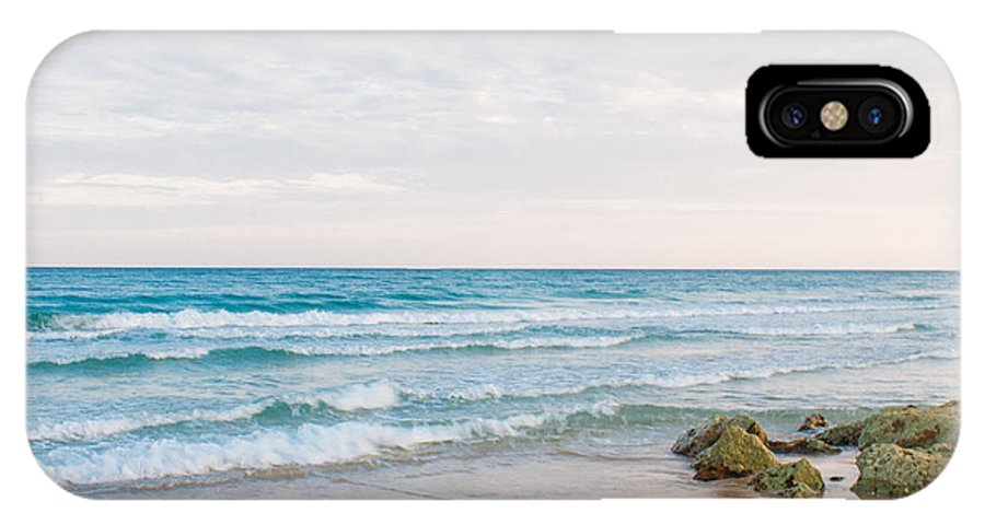 Beach IPhone X Case featuring the photograph Beach Rocks 0003 by Terrence Downing