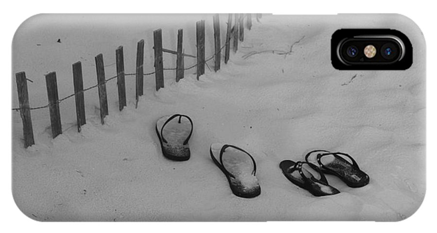 Sandals IPhone X Case featuring the photograph Beach Shoes by Michelle Powell