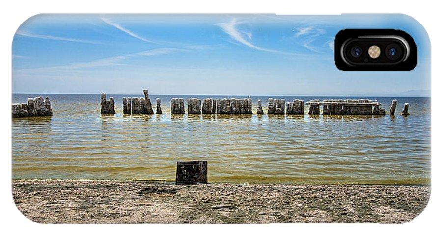 Salton Sea IPhone X Case featuring the photograph Beach Tv by Keith Ducker