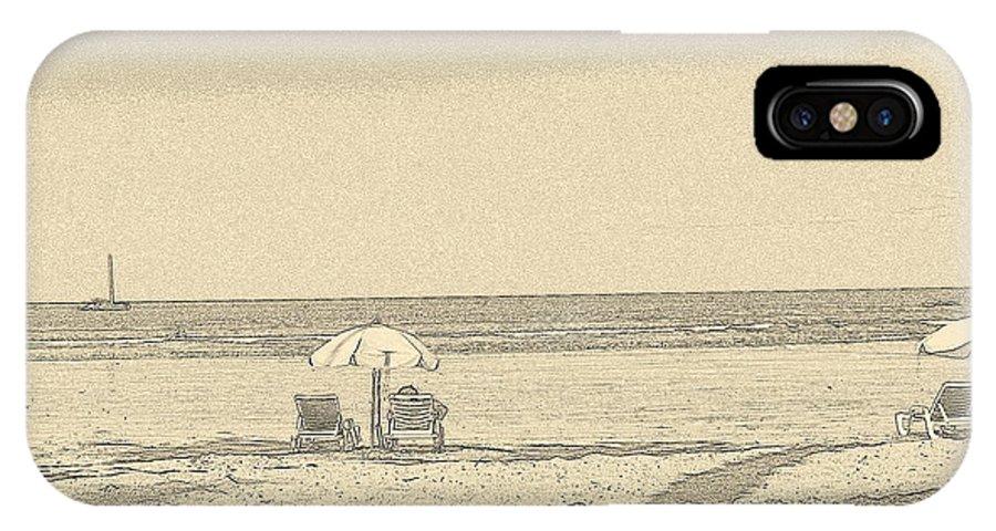 Beach View IPhone X Case featuring the photograph Beach View by Carlton Britt