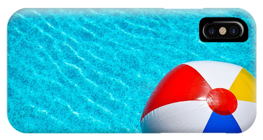 Ball IPhone X Case featuring the photograph Beachball 1 by Amy Cicconi