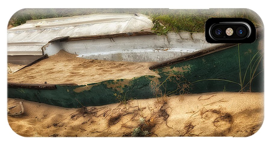 Dingy IPhone X Case featuring the photograph Beached by Bill Wakeley