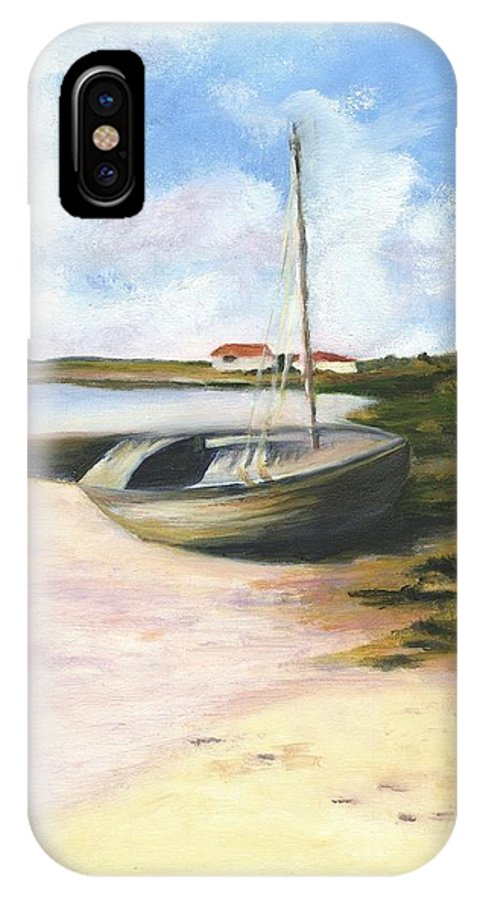Beach IPhone X Case featuring the painting Beached by Deborah Butts