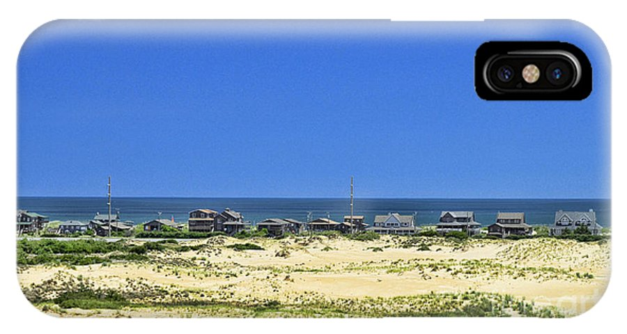 Jockey's Ridge State Park IPhone X Case featuring the photograph Beachouses As Seen From Jockey's Ridge State Park by Allen Beatty