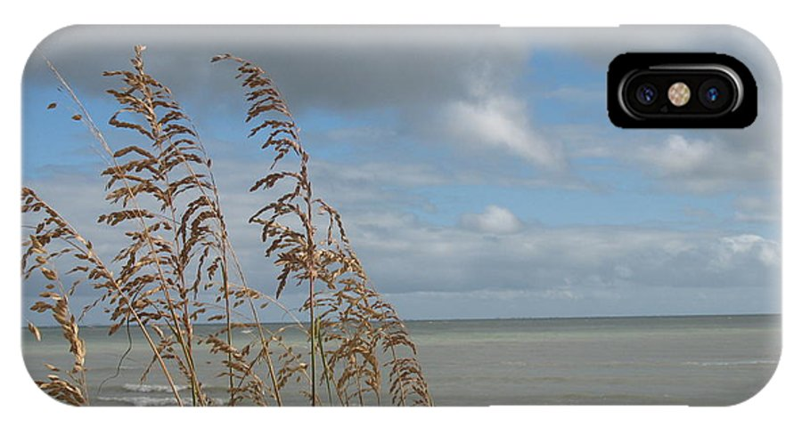 Beach IPhone X Case featuring the photograph Beachview With Seaoat by Christiane Schulze Art And Photography