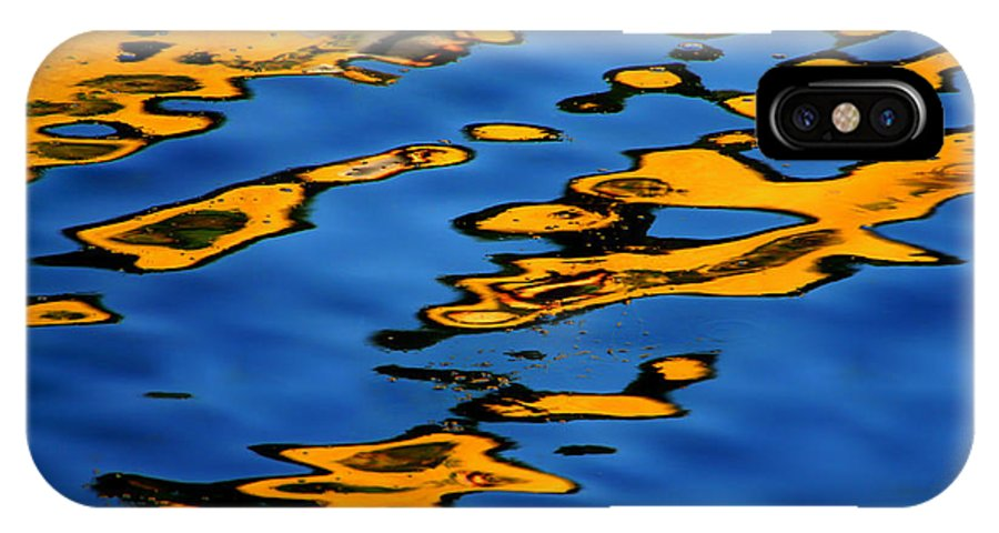 Abstract Water IPhone X Case featuring the photograph Beagles At Play by Donna Blackhall