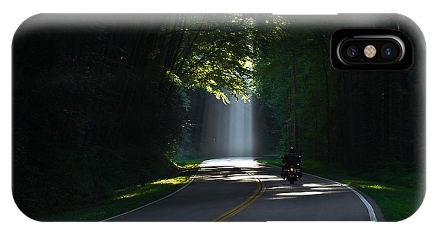 Reid Callaway Motorcycle IPhone X Case featuring the photograph Beam Me Up The Great Smoky Mountains by Reid Callaway